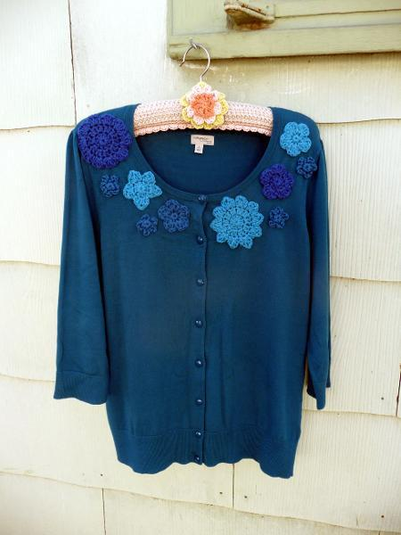 Crochet embellished cardigan