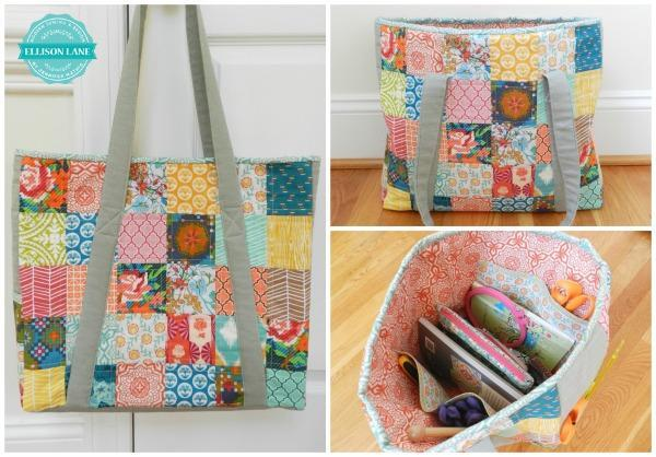 Bluprint Travel Tote Bag Free Pattern
