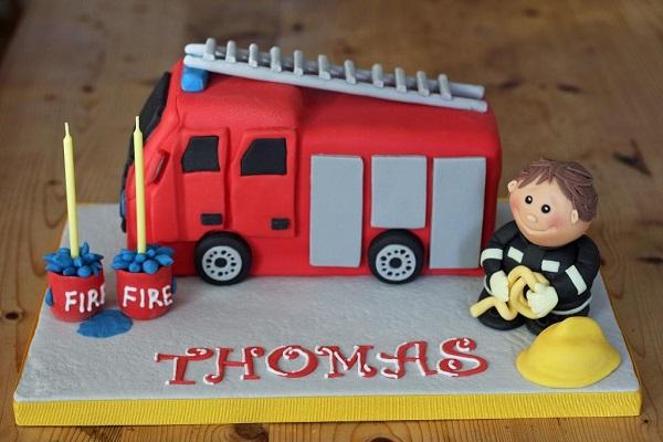Tiny Firefighter Cake