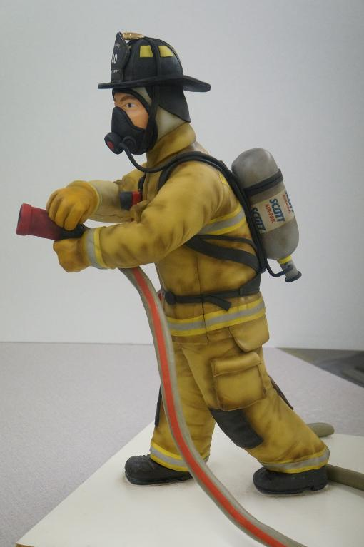Sculpted Firefighter Cake