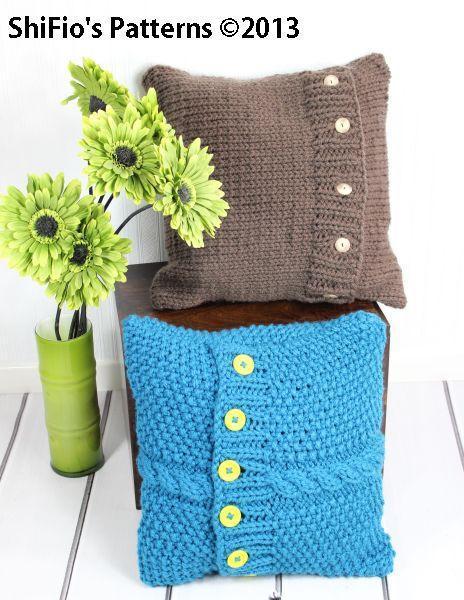 Chunky knit cushions: Bluprint Member Pattern