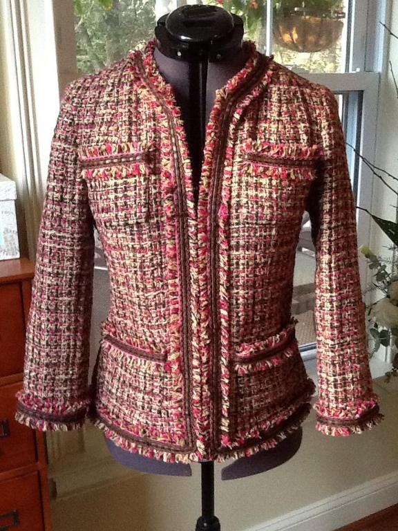 Tweed jacket with fringe and trim - Bluprint.com