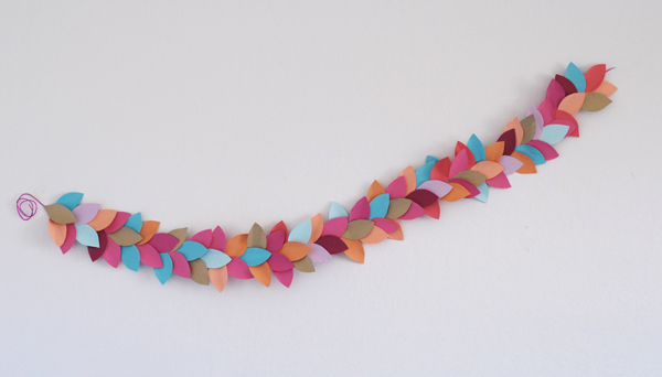 Finished Paper leaf party garland