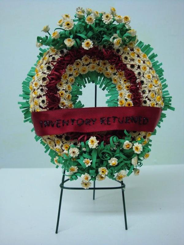 Gina Dawson Miniature Funeral Wreath