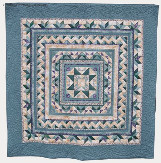 Blue Medallion Quilt
