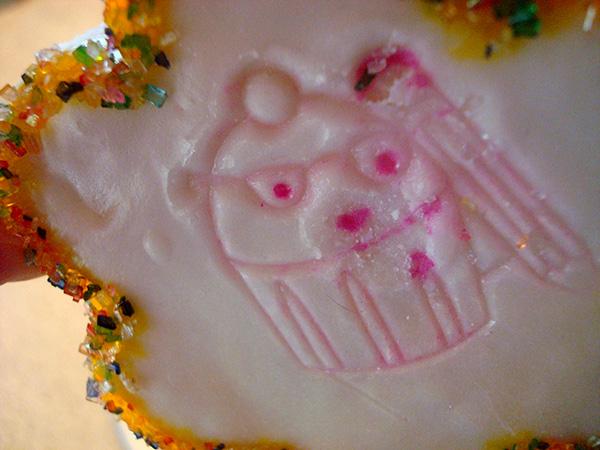 Bleeding Stamped Image On Cookie