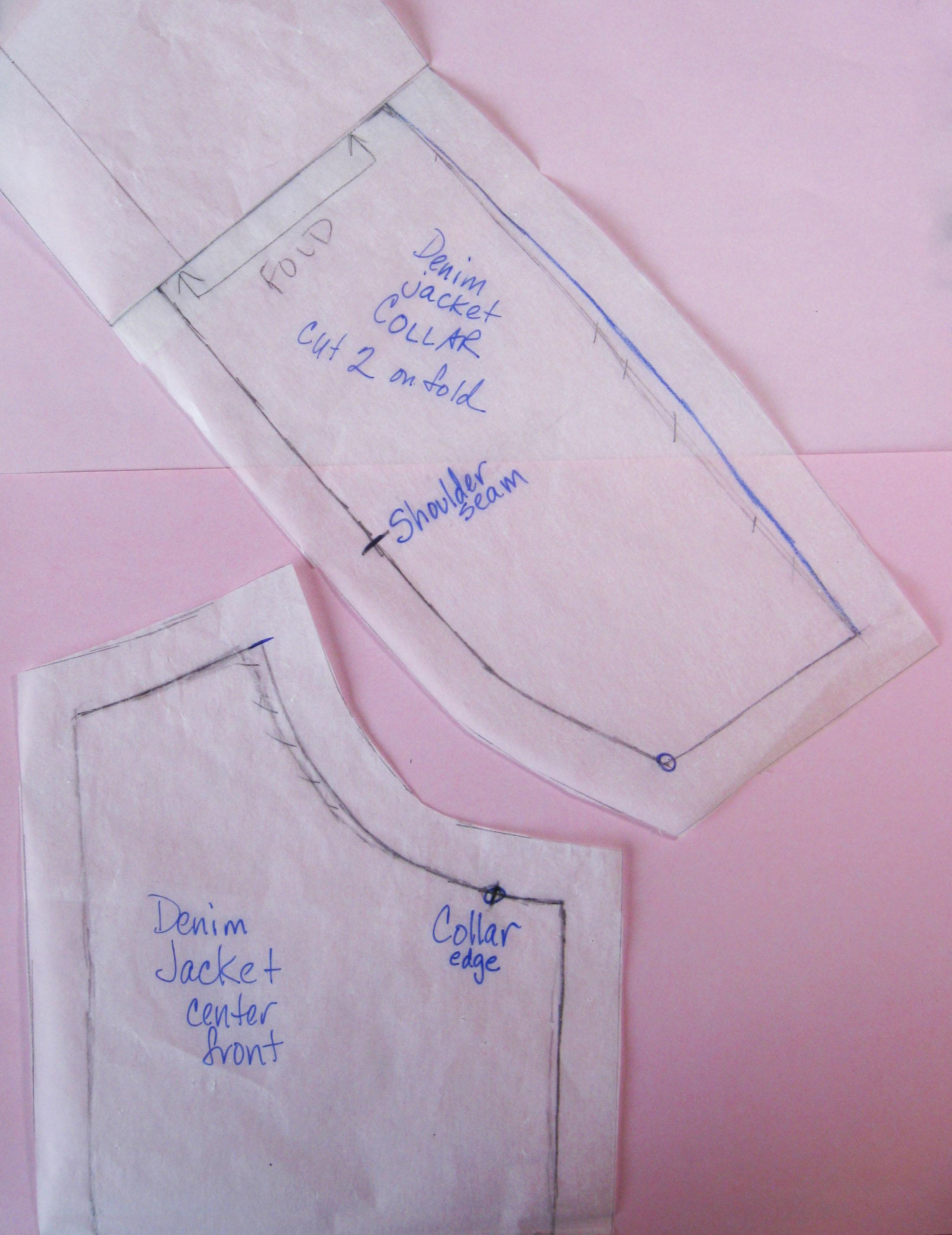 jacket pattern pieces