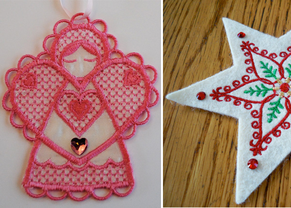 Embellishing embroidery: Jewels and crystals