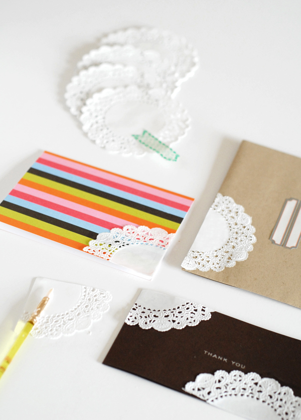 Paper lace stationary