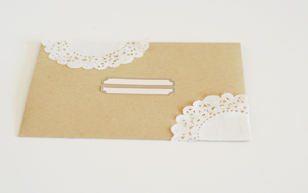 Paper lace envelope