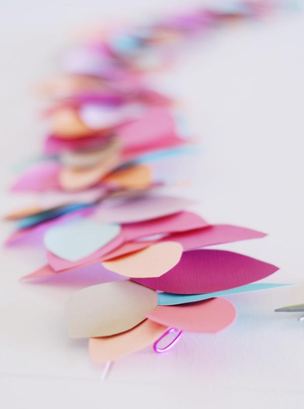 Colorful Paper Leaf Garland