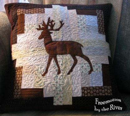 Deer Log Cabin Quilt