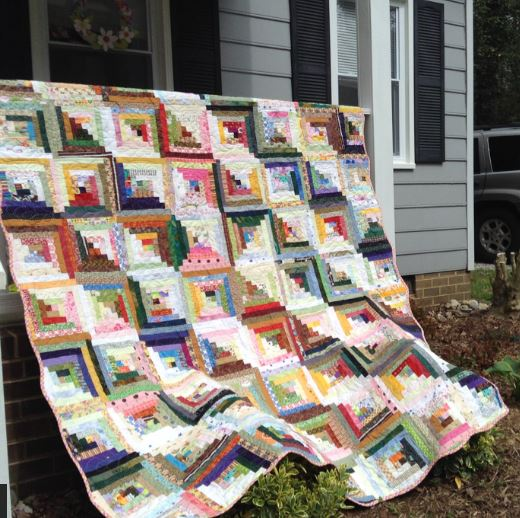 Log cabin quilt using value