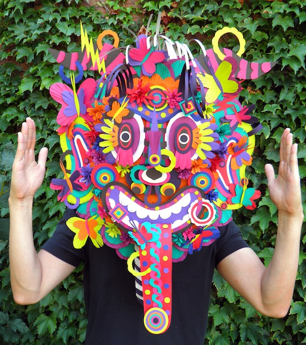 Michael Velliquette Paper Mask