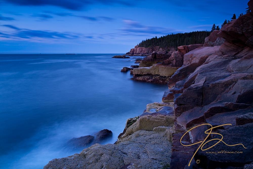 Oceanside Cliffs using Bulb exposure