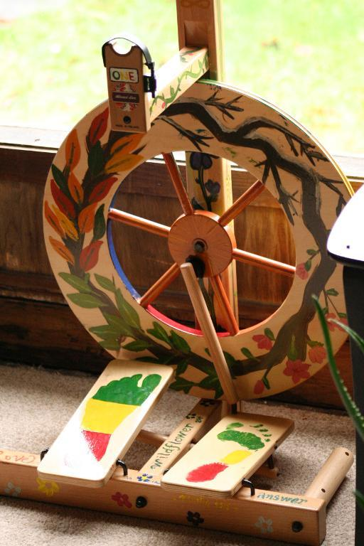 Painted Louet Spinning Wheel