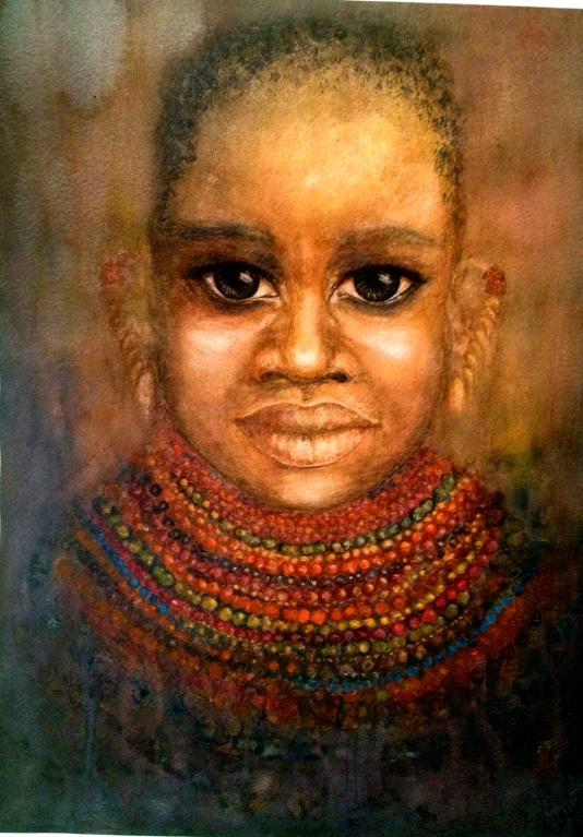 Painting of an African Girl