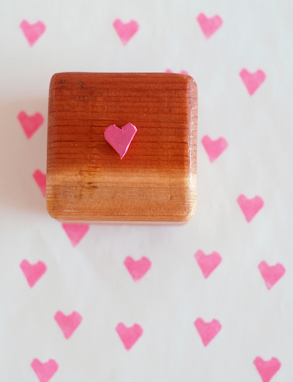 Handmade Rubber Heart Stamp