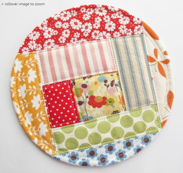 Patchwork Coasters on Craftsy!