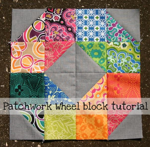 Patchwork Wheel Block Tutorial