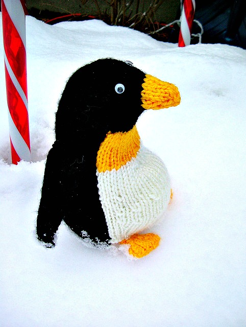 Knitted Toy Penguin