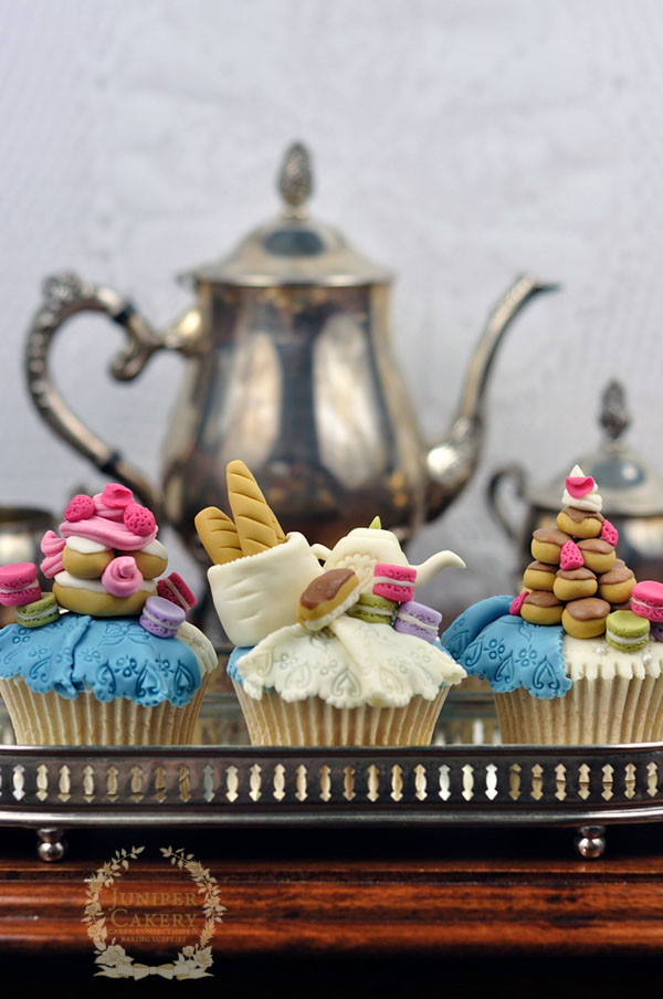 Tutorial for Paris pastry themed cupcakes