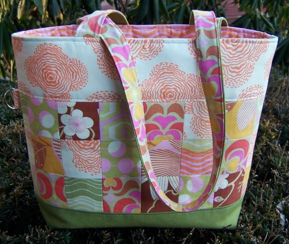 Pretty Patchwork Quilted Tote