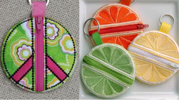 Embellishing embroidery: zippers