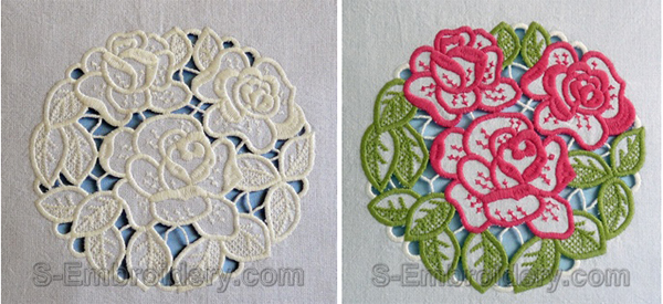 One and two color cutwork designs