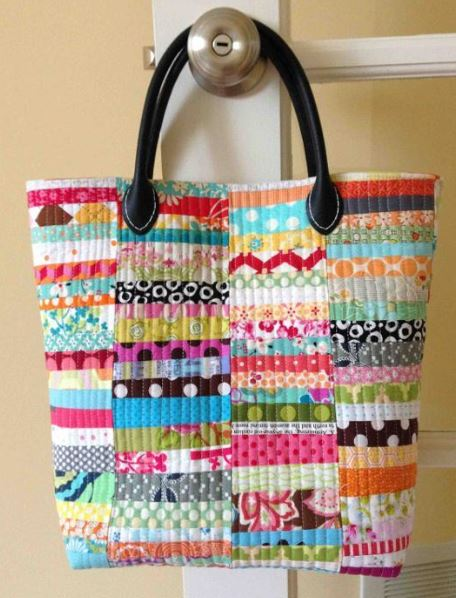 Scrap Happy Quilted Tote Bag Pattern