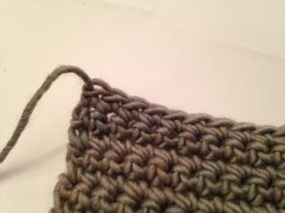 Fastening off in crochet
