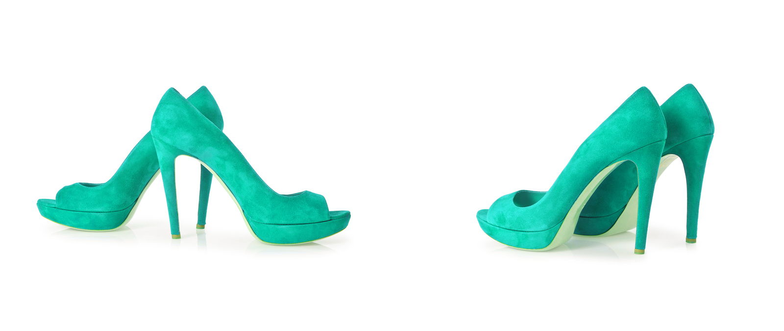 Teal Pair of Pumps: Product Photography Tips