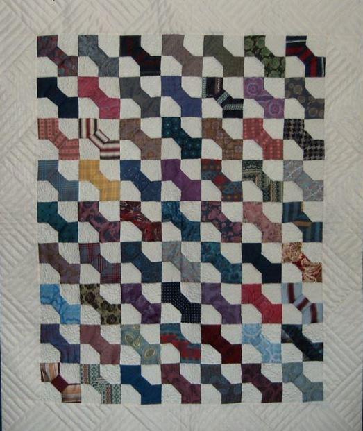 Silk Ties Patchwork Quilt Pattern