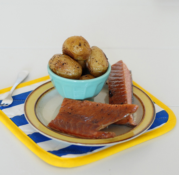 Smoked Salmon with a Side of Potatoes