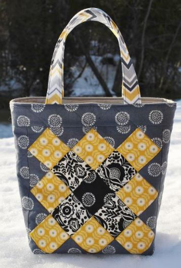 Sophie Jane: Black and Yellow Tote Bag