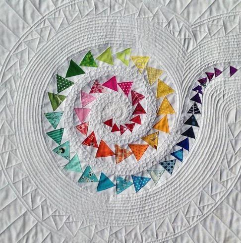 Spiral Geese Quilt