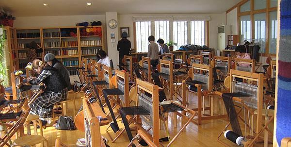 A Studio Full of SAORI Weaving Looms in Japan