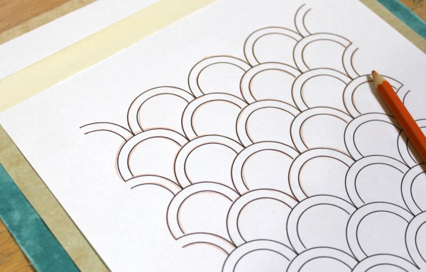 Tracing Sashiko designs with White Carbon Paper