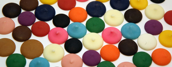 Colorful candy wafers