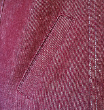 welt pocket on a denim jacket