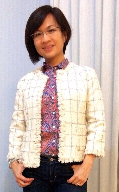 White plaid Chanel-style jacket