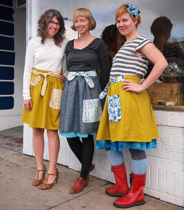 Ysoldas Pocket Ties Skirt, on Bluprint.com