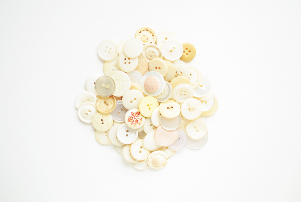 a group of white buttons