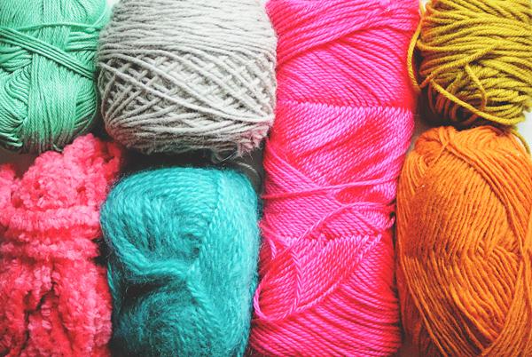 different textured yarn