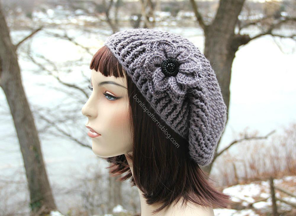 Reversible Textured Slouch hat