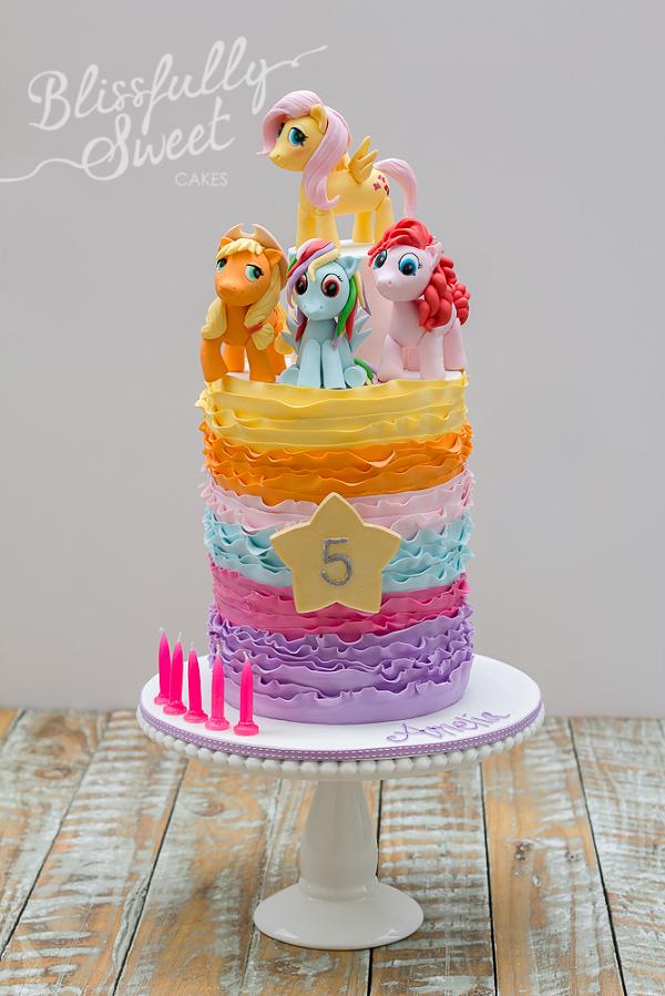 My Little Pony Ruffle Cake