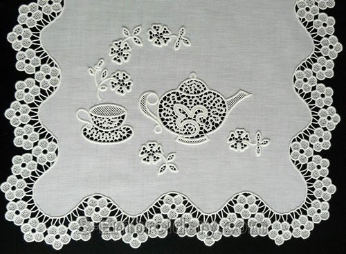 advanced embroidery teatime freestanding lace machine embroidery