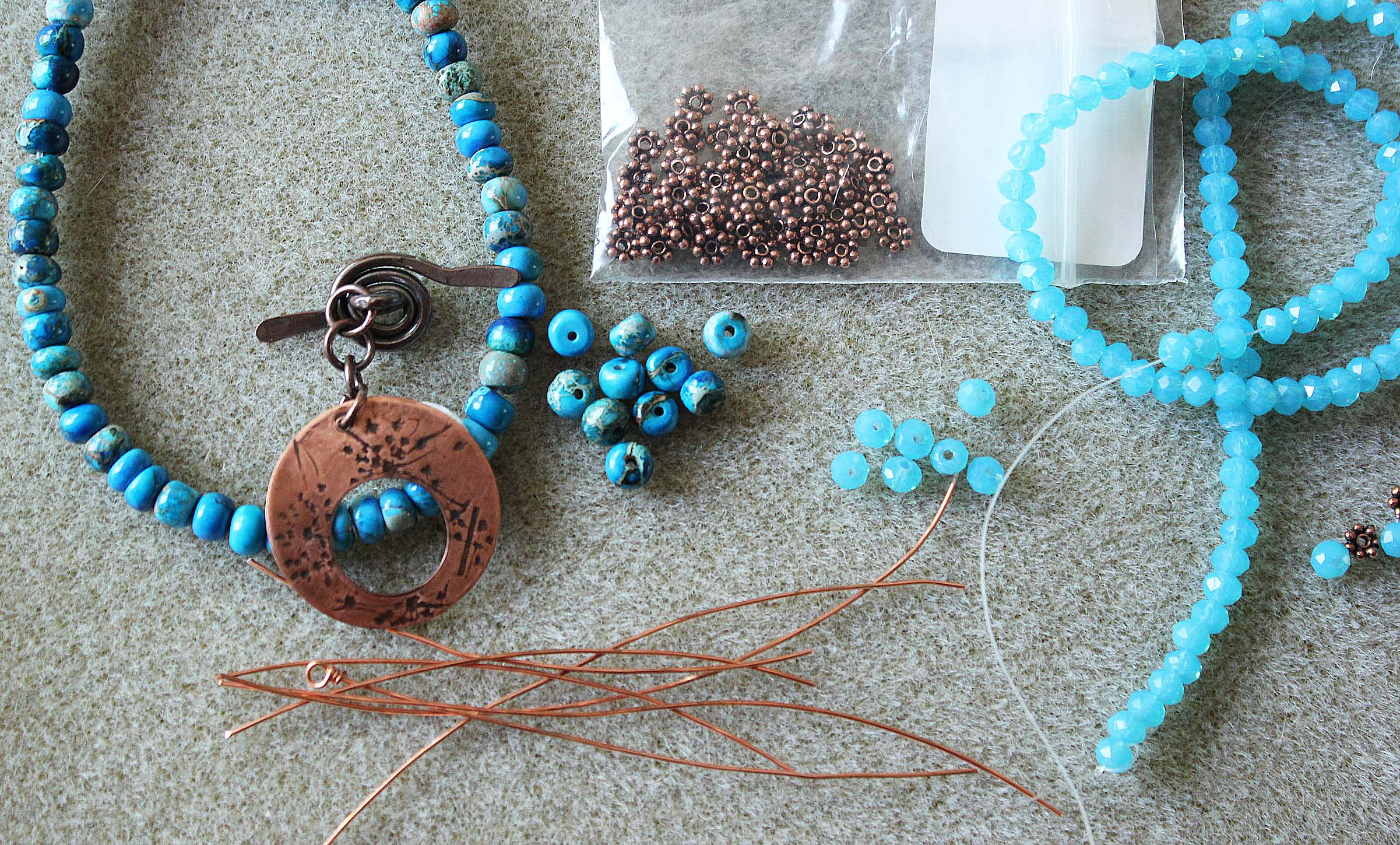 Supplies for Making a Beaded Bracelet