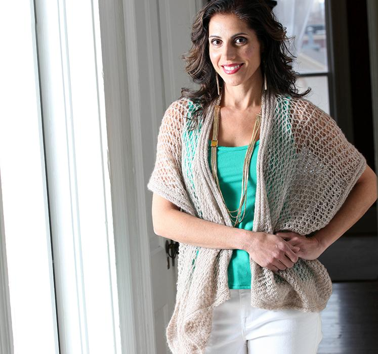 Carla Ruana Vest Knit Pattern Kit on Bluprint.com