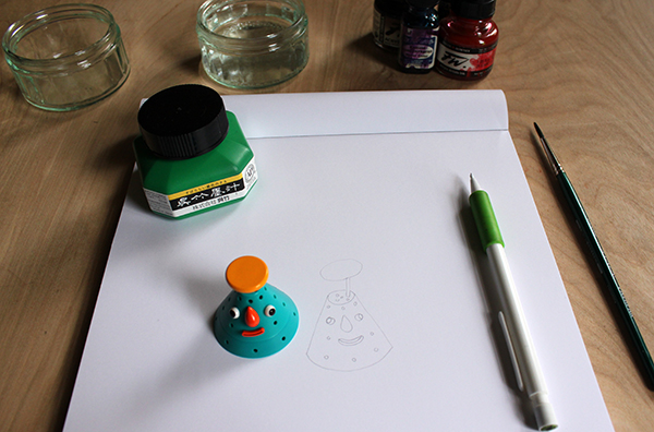 Drawing before inking a picture